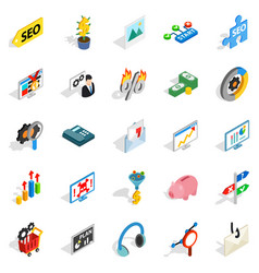 spending on the internet icons set vector image