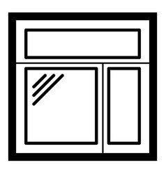 Square window frame icon simple black style vector