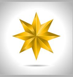 Star realistic metallic golden isolated yellow 3d vector