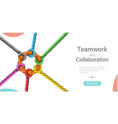 Teamwork and collaboration conceptual vector