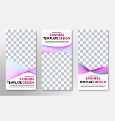 templates for vertical web banners with place for vector image