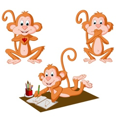 Three Monkeys vector