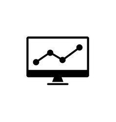 trading chart analyzing stock market flat vector image