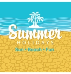 Travel banner summer holidays vector