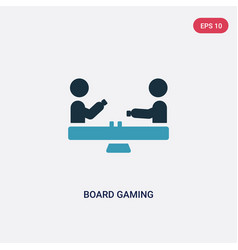 two color board gaming icon from sports concept vector image