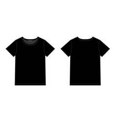 Unisex black t-shirt design template front and vector