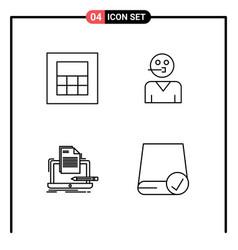User interface pack 4 basic filledline flat vector