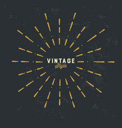 Vintage gold sunburst design element on grunge vector