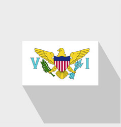Virgin islands us flag long shadow design vector