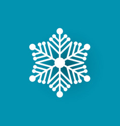 winter symbol xmas flake new year and christmas vector image