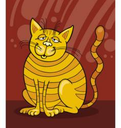 Yellow cat smiling vector