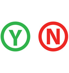 yes or no mark color icon vector image