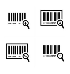 zoom barcode design vector image