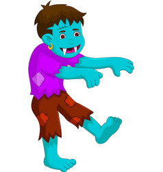 cartoon zombie walking for you design vector image vector image