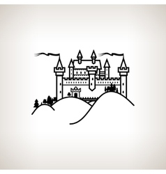 Castle Hill on a Light Background vector image vector image