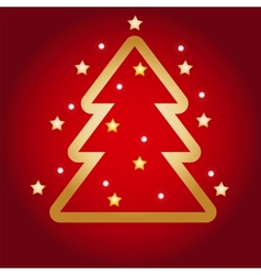 Colorful with Christmas tree vector image vector image