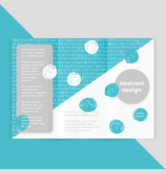 brochure in memphis style abstract vector image