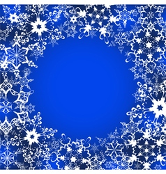 Decorative winter frame with ornate snowflakes vector image vector image