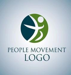 People movement logo 5 vector