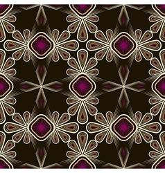 Seamless beautiful lace pattern ornament vector image vector image