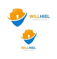 shield logo design template vector image