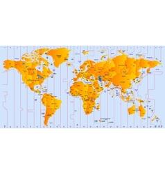 Timezone map vector image
