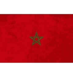 True proportions Morocco flag with texture vector image vector image