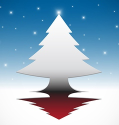 Abstract christmas tree background vector image vector image