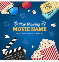 cinema background movie name vector image vector image