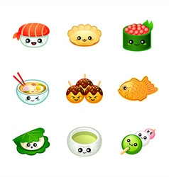 Cute Japanese food vector image vector image