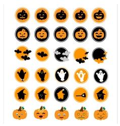 Halloween icon set vector image vector image
