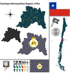 Map of Santiago Metropolitan vector image vector image