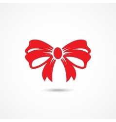 Ribbon Bow Icon vector image