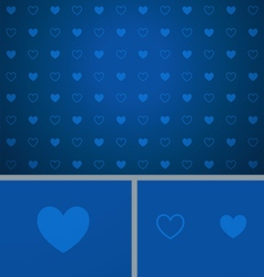 Clean Abstract Poker Background Blue Hearts vector image vector image