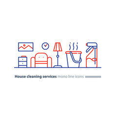 Clean house maintenance services refresh interior vector