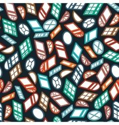 dark seamless pattern color isometric window vector image vector image