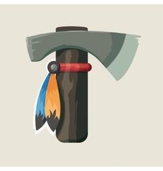 native American Indian tomahawk vector image