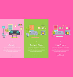 quality and perfect style page vector image vector image