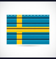 siding produce company icon sweden vector image vector image