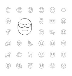33 smile icons vector