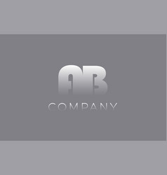 Ab a b pastel blue letter combination logo icon vector