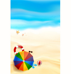 abstract background top view of sand and sea vector image