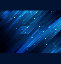 Abstract blue diagonal stripes and circuit vector