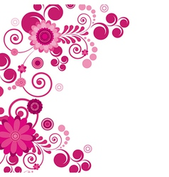 Abstract flowers background with place for your vector image