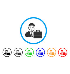 Accounter rounded icon vector