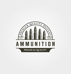 Ammunition icon logo vintage symbol design vector