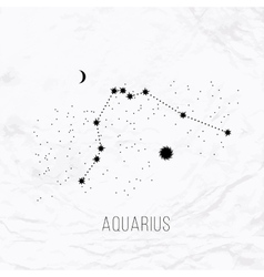 astrology elements aquarius on white vector image