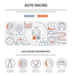 Banner auto racing vector