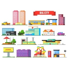 Big City Urban Icons Set vector image