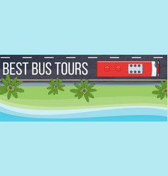 bus tours banner vector image